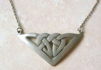Pewter Celtic Knot Work Necklace.